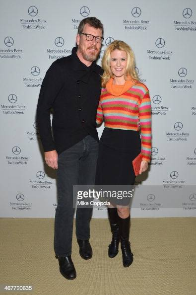 Simon van Kempen and Alex McCord attend MercedesBenz Fashion Week Fall 2014 at Lincoln Center on February 7 2014 in New York City