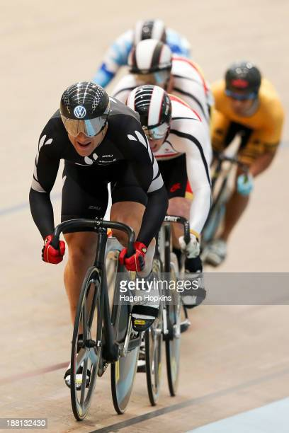 Simon Van Velthooven of New Zealand competes in the men's keiren during the 2013 UCI Festival of Speed at SIT Zerofees Velodrome on November 16 2013...