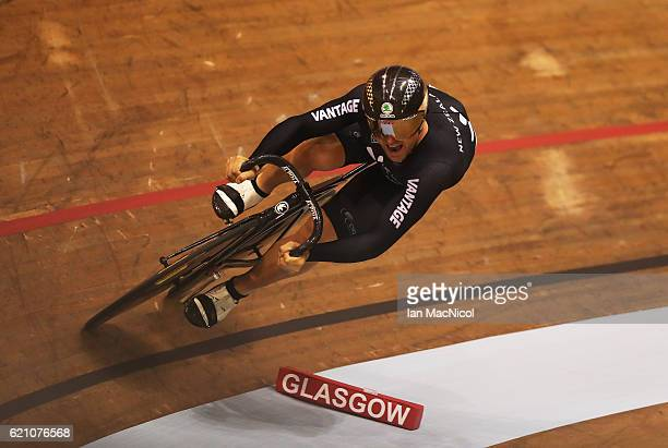 Simon van Velthooven of New Zealand competes in the Men's Sprint Qualification at the Sir Chris Hoy Velodrome on November 4 2016 in Glasgow Scotland