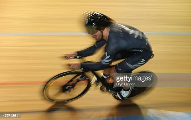 Simon van Velthooven of New Zealand took bronze in the Men's 1km TT during day three of the 2014 UCI Track Cycling World Championships at the...