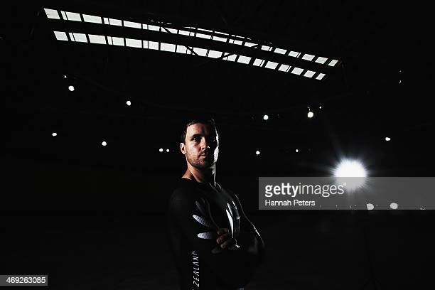 Simon Van Velthooven poses for a photo during the BikeNZ Track Cycling World Championship Media Day on February 14 2014 in Cambridge New Zealand
