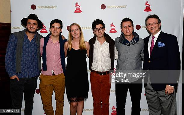 Simon Vargas Juan Pablo Villamil of Morat Buchanan's Tara King Alejandro Posada Juan Pablo Isaza of Morat and President of the Latin Recording...