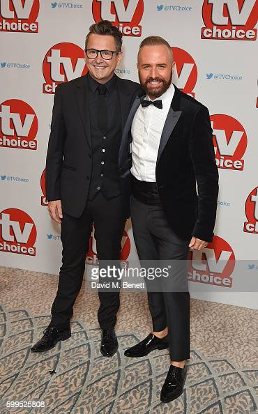 Simon Webb and Christopher Steed arrive for the TVChoice Awards at The Dorchester on September 5 2016 in London England