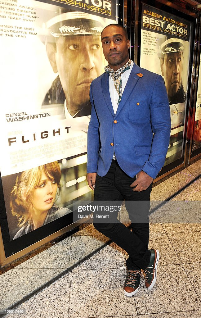 Simon Webbe attends the UK Premiere of 'Flight' at the the Empire Leicester Square on January 17, 2013 in London, England.