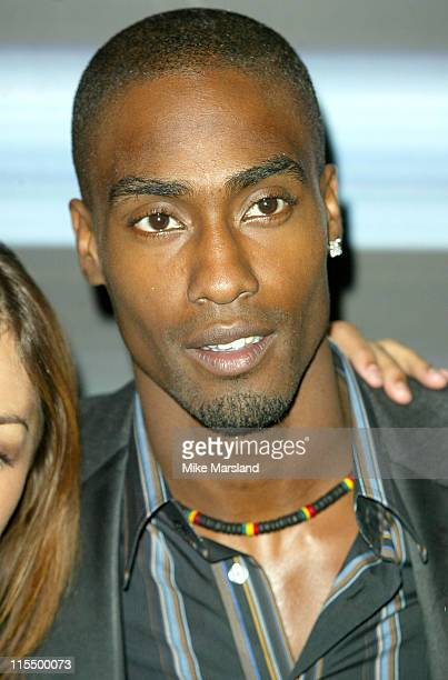 Simon Webbe from boyband Blue during The Brit Awards 2004 Nominations Arrivals at Park Lane Hotel in London United Kingdom