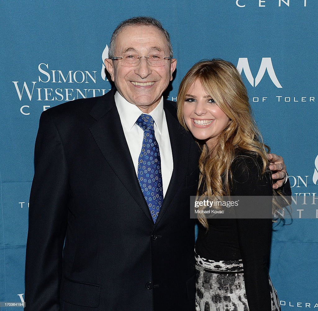 Simon Wiesenthal Center Founder Rabbi Marvin Hier (L) and granddaughter Rachel arrive at the Simon Wiesenthal Center National Tribute Dinner at Regent Beverly Wilshire Hotel on June 11, 2013 in Beverly Hills, California.