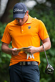 Simon Zach of Czech Republic in action during day 3 of the 9th Faldo Series Asia Grand Final 2014 golf tournament on March 20 2015 at Faldo course in...