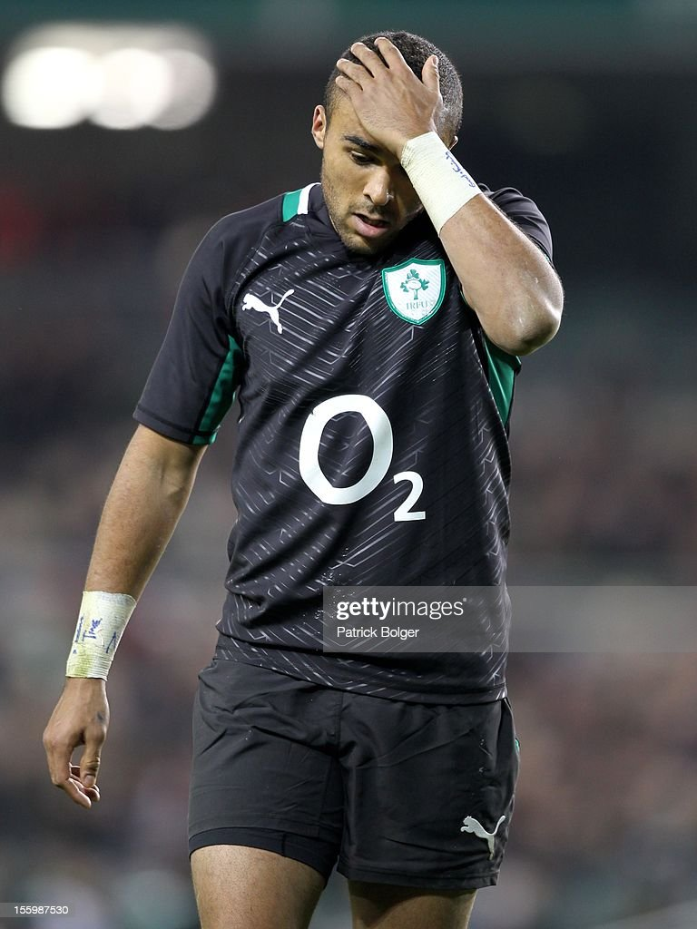 Simon Zebo of Ireland during the International rugby match between Ireland and South Africa in the Aviva Stadium on November 10, 2012 in Dublin, Ireland.