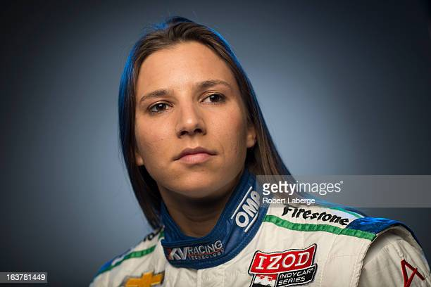 Simona de Silverstro of Switzerland driver of the Nuclear Entergy Areva KVRT Dallara Chevrolet poses for a portrait during the IZOD IndyCar Series...