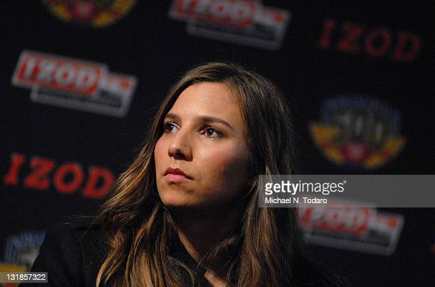Simona de Silvestro attends the Indy 500 100th Anniversary party at the Classic Car Club on March 23 2011 in New York City