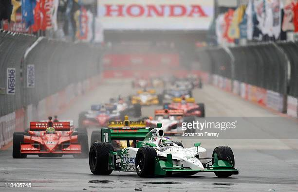 Simona de Silvestro drives her Nuclear Clean Air Enery HMV Racing Dallara Honda during the IndyCar Series Itaipava S‹o Paulo Indy 300 on May 2 2011...