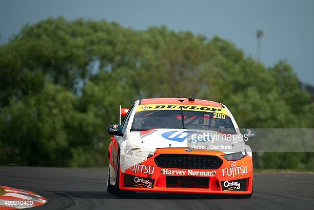 Simona De Silvestro drives the Harvey Norman Supergirls Falcon during the Bathurst 1000 which is race 25 of the V8 Supercars Championship at Mount...