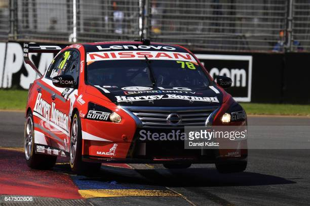 Simona de Silvestro drives the Team Harvey Norman Nissan Altima during the Clipsal 500 which is part of the Supercars Championship at Adelaide Street...
