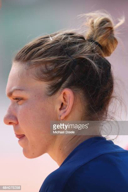 Simona Halep of Romania during her second round match against Laura Siegemund of Germany on Day Four of The Internazionali BNL d'Italia 2017 at the...