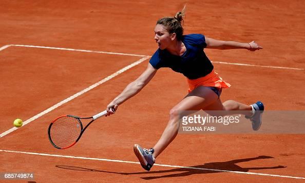 TOPSHOT-ITALY-TENNIS-WTA : News Photo