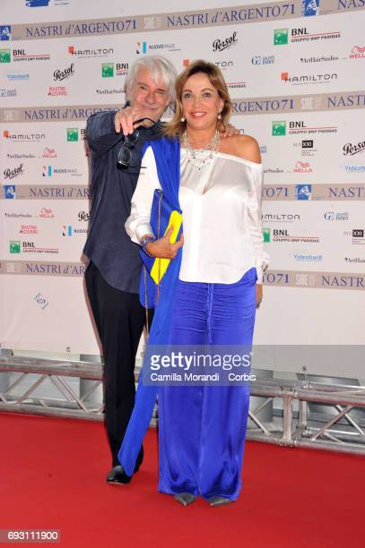SImona Izzo and Ricky Tognazzi attend the nominees presentation of Nastri D'Argento at Maxxi Museum on June 6 2017 in Rome Italy