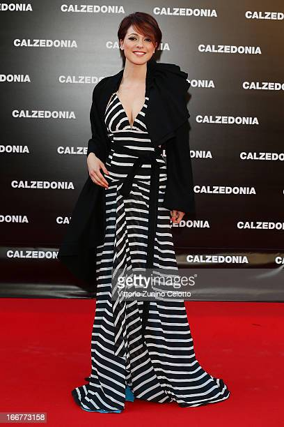 Simona Molinari attends Calzedonia Summer Show Forever Together on April 16 2013 in Rimini Italy