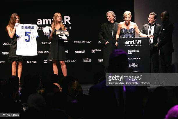 Simona Ventura attends the Amfar Aids Research Gala and Auction in Milan