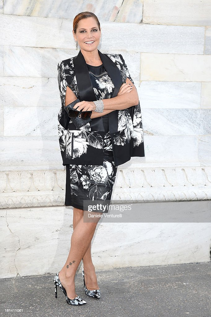 Roberto Cavalli - Arrivals - Milan Fashion Week Womenswear Spring/Summer 2014