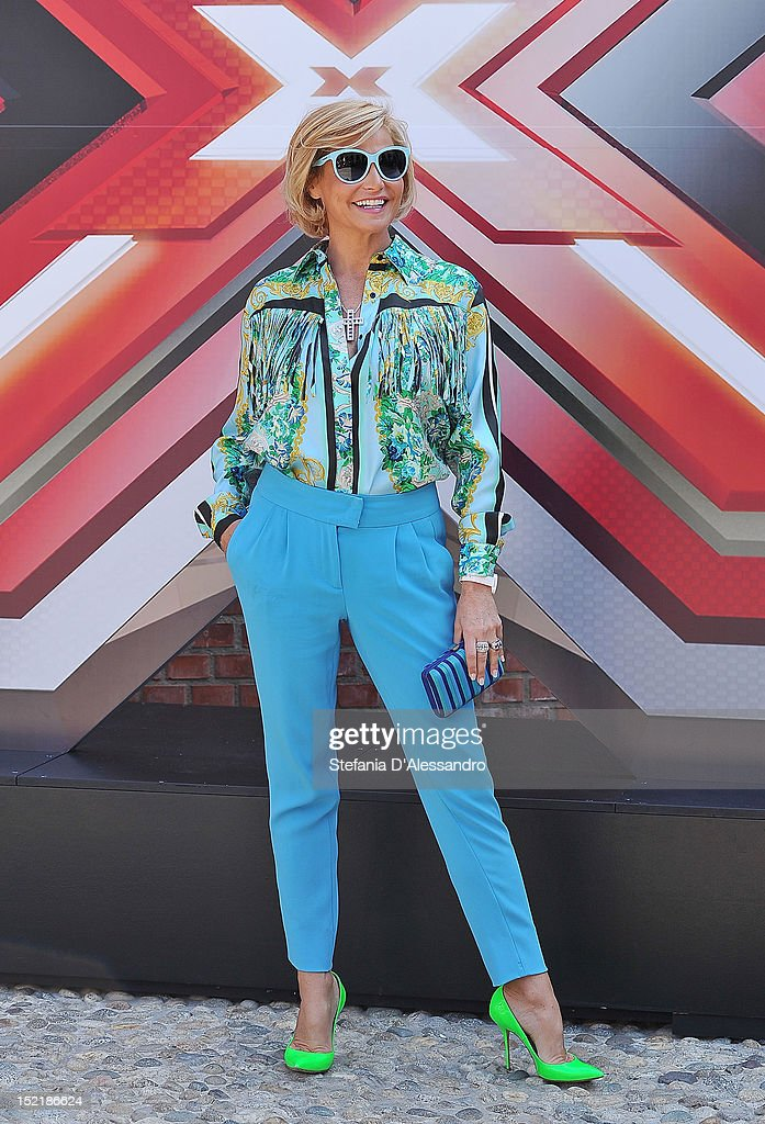 Simona Ventura attends X Factor 2012 Press Conference on September 17, 2012 in Milan, Italy.