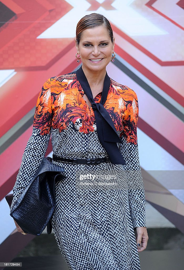 Simona Ventura attends X Factor 2013 Photocall at La Fonderia Napoleonica on September 24, 2013 in Milan, Italy.