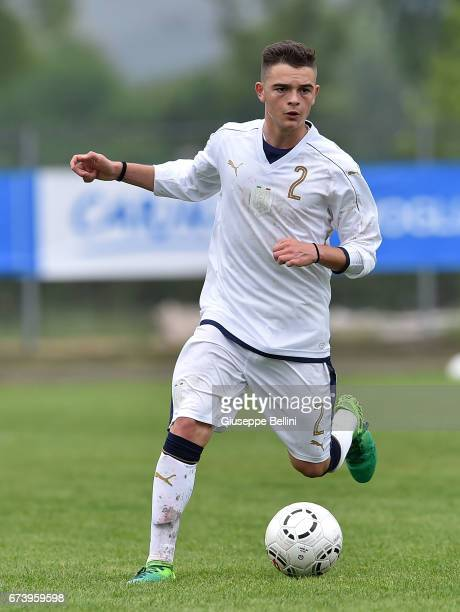 Simone Achille Giosuè of Italy U15 in action during the Torneo delle Nazioni match between Italy U15 and UAE U15 on April 27 2017 in Gradisca...