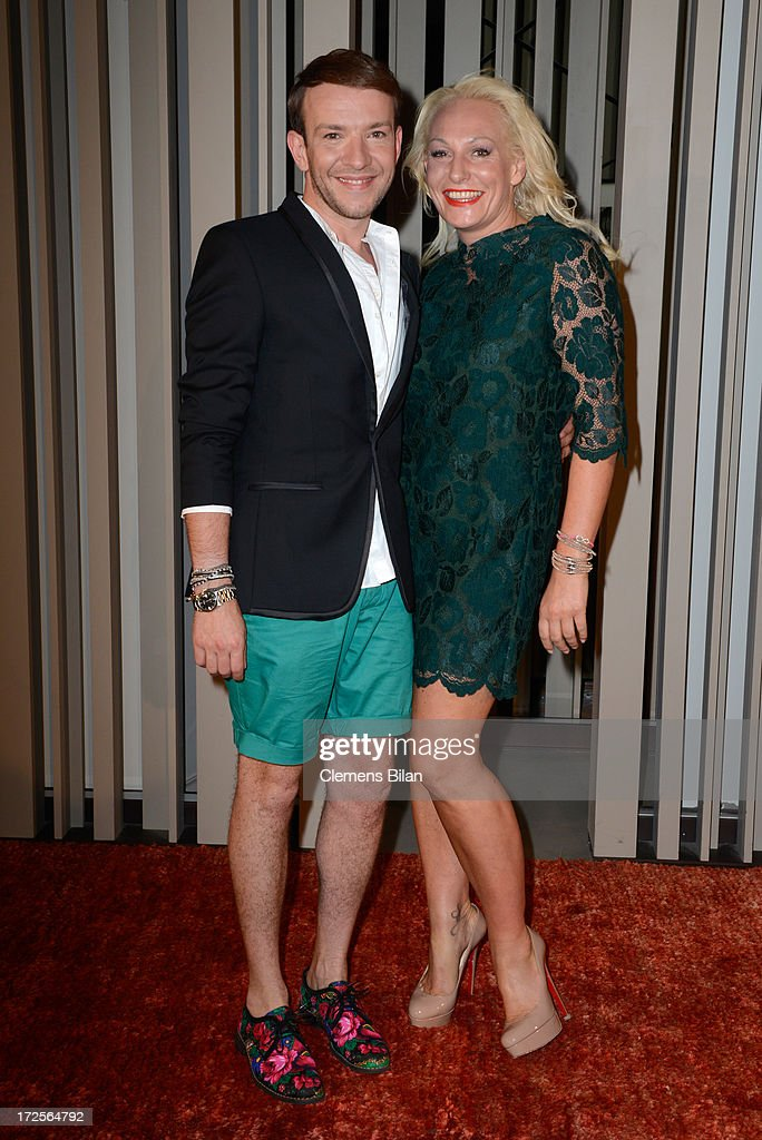 Simone Anés and Stephan Pelger attend at the Simone Anes & Stephan Pelger Show during Mercedes-Benz Fashion Week Spring/Summer 2014 on July 3, 2013 in Berlin, Germany.