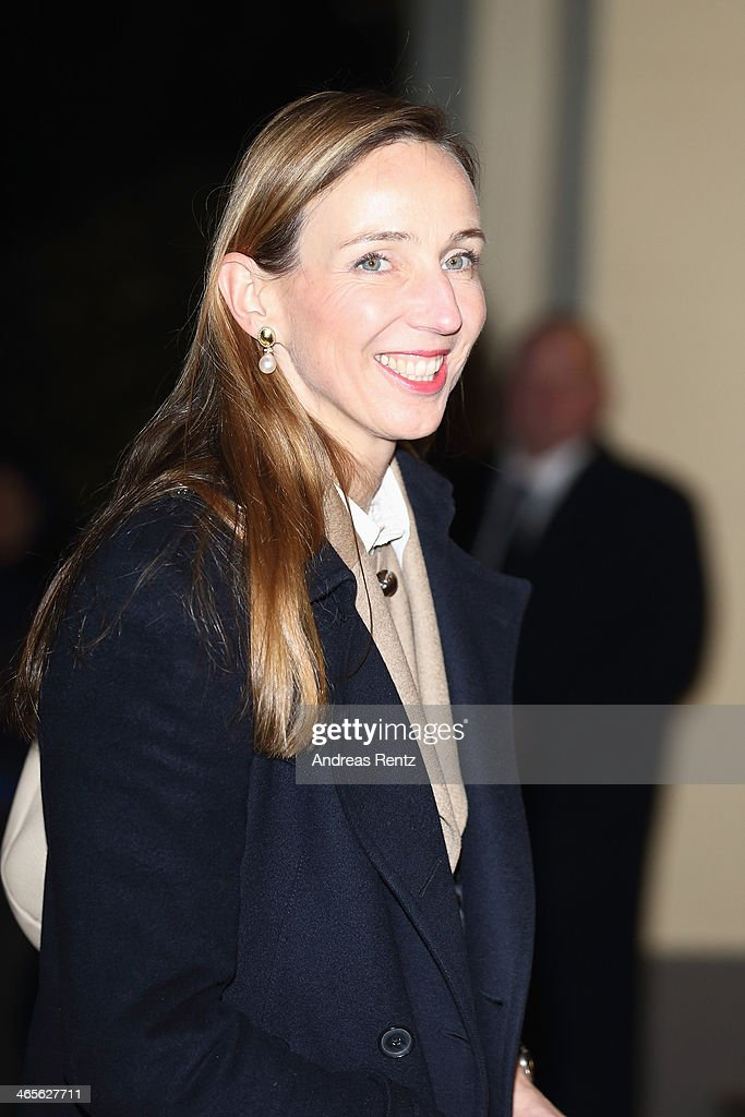 Simone Bagel-Trah, chairwoman of Henkel, arrives for a dinner with Crown Princess Victoria of Sweden at Castle of Eller on January 28, 2014 in Dusseldorf, Germany.