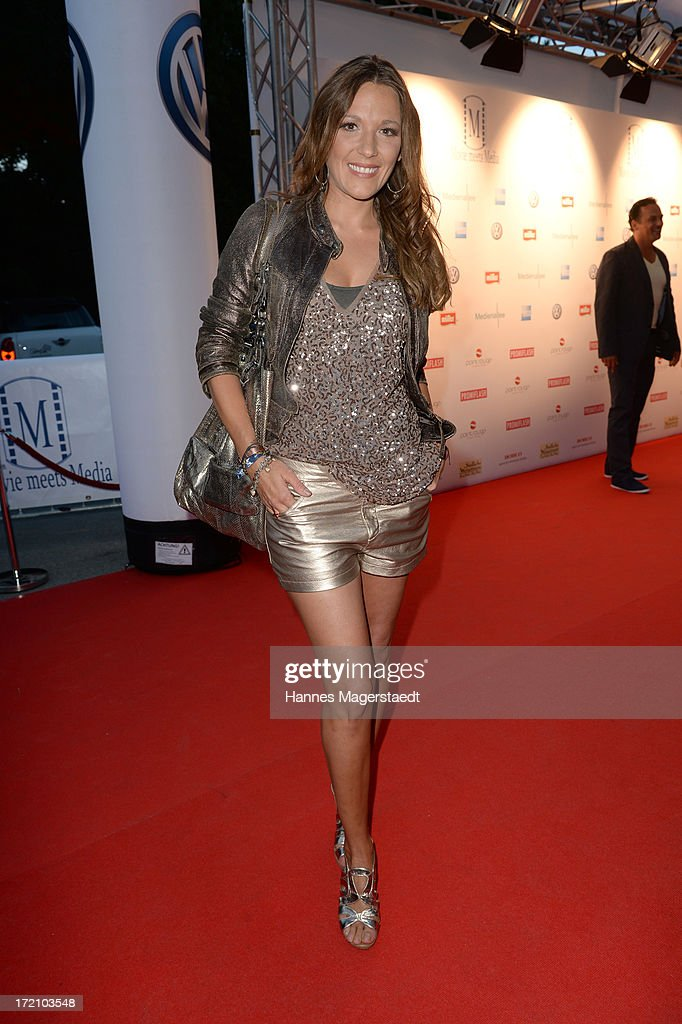 Simone Ballack attends the Movie Meets Media Party during the Munich Film Festival 2013 at P1 on July 1 2013 in Munich Germany