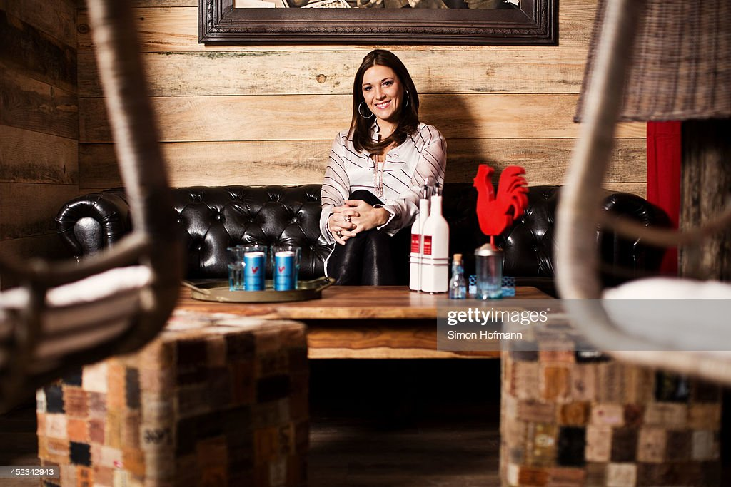 Simone Ballack poses during a photo session at her new restaurant Chickeria on November 28, 2013 in Kaiserslautern, Germany.