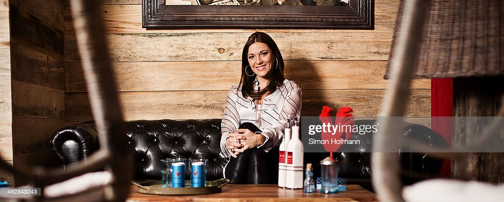 <a gi-track='captionPersonalityLinkClicked' href=/galleries/search?phrase=Simone+Ballack&family=editorial&specificpeople=554497 ng-click='$event.stopPropagation()'>Simone Ballack</a> poses during a photo session at her new restaurant Chickeria on November 28, 2013 in Kaiserslautern, Germany.