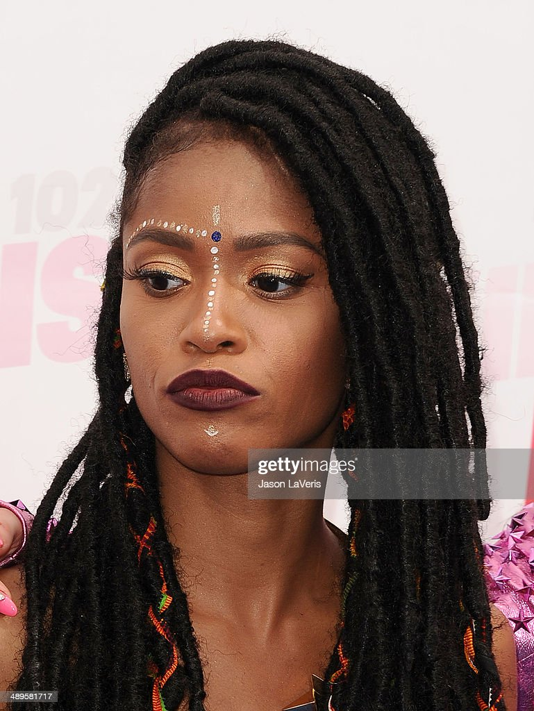 <a gi-track='captionPersonalityLinkClicked' href=/galleries/search?phrase=Simone+Battle&family=editorial&specificpeople=5698917 ng-click='$event.stopPropagation()'>Simone Battle</a> of the group G.R.L. attends 102.7 KIIS FM's 2014 Wango Tango at StubHub Center on May 10, 2014 in Los Angeles, California.