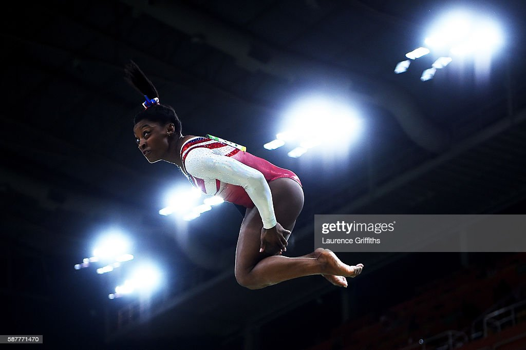 Simone Biles of the United States competes on the balance beam during the Artistic Gymnastics Women's Team Final on Day 4 of the Rio 2016 Olympic Games at the Rio Olympic Arena on August 9, 2016 in Rio de Janeiro, Brazil.