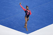 Simone Biles of United States performs on the floor during the Women's Floor Exercise Final on day six of the 45th Artistic Gymnastics World...