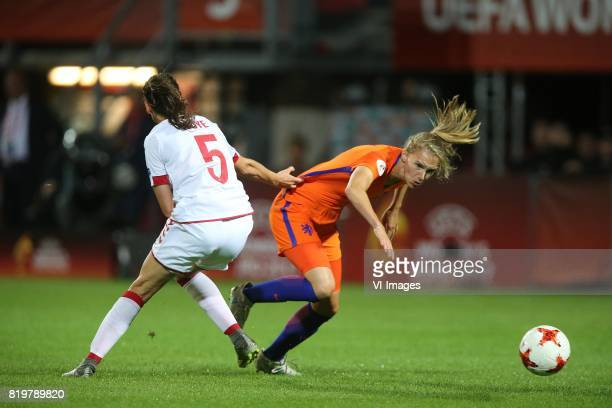 Simone Boye Sorensen of Denmark women Vivianne Miedema of Holland Women during the UEFA WEURO 2017 Group A group stage match between The Netherlands...