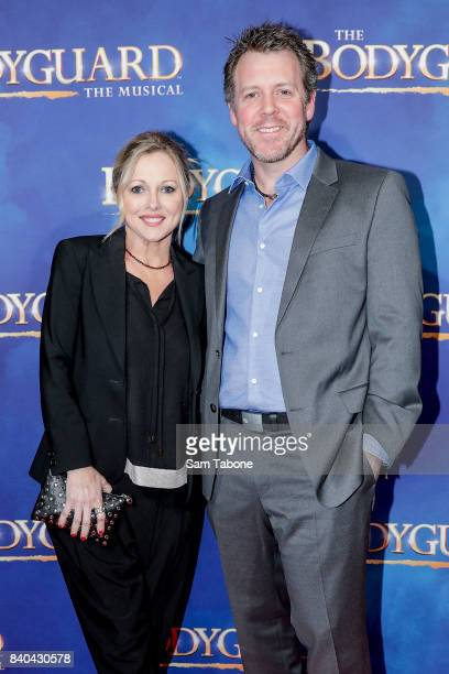 Simone Buchanan and Brett Smith during a production media call for The Bodyguard at Regent Theatre on August 29 2017 in Melbourne Australia