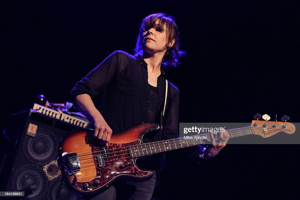 Simone Butler of Primal Scream performs on stage at The Fonda Theatre on October 13, 2013 in Los Angeles, California.
