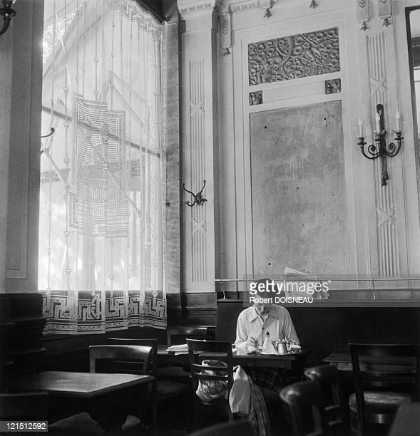 Simone De Beauvoir At The Deux Magots SaintGermain Des Pres In 1944 Paris