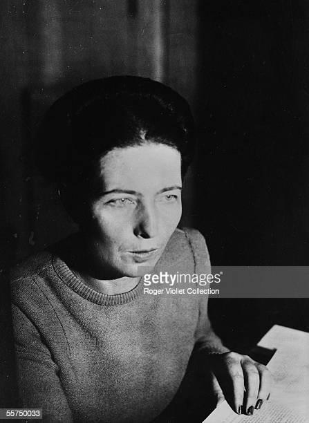 Simone de Beauvoir French writer France november 1945