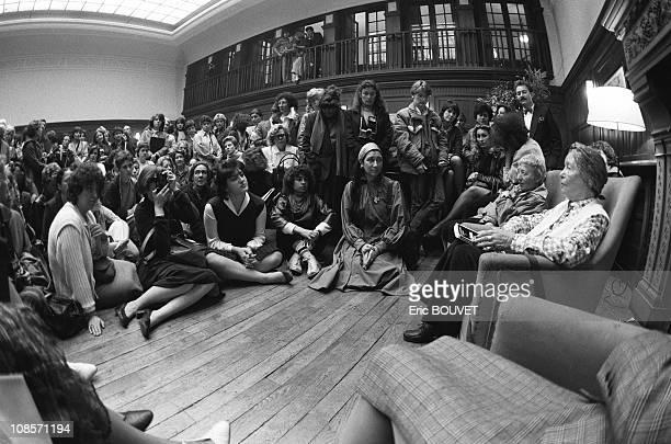 Simone de Beauvoir in Paris France on May 15 1984