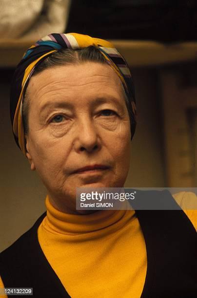 Simone de Beauvoir portraits In France In 1974