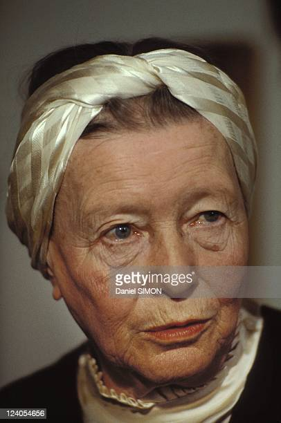 Simone de Beauvoir winner of the Sonning Prize for the year 1983 In Paris France On April 21 1983