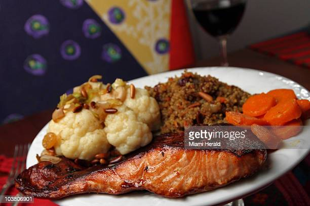 Simone Diament shares some of her special recipes for Rosh Hashanah like this dish of salmon with a soy sauce glaze along with roasted cauliflower...
