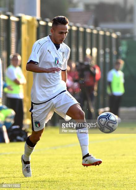 Simone Edera of Italy U20 in action during the 8 Nations Tournament match between Italy U20 and England U20 on October 5 2017 in Gorgonzola Italy