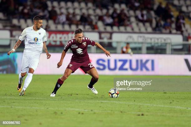 Simone Edera of Torino FC in action during the Italia Tim Cup match between Torino Fc and Trapani Calcio Torino Fc wins 71 over Trapani Calcio
