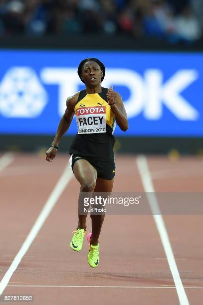 Simone FACEY Jamaica during 200 meter heats in London at the 2017 IAAF World Championships athletics on August 8 2017