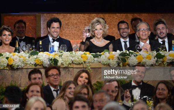 Simone Garity actor Troy Garity honoree Jane Fonda and record producer Richard Perry attend the 2014 AFI Life Achievement Award A Tribute to Jane...