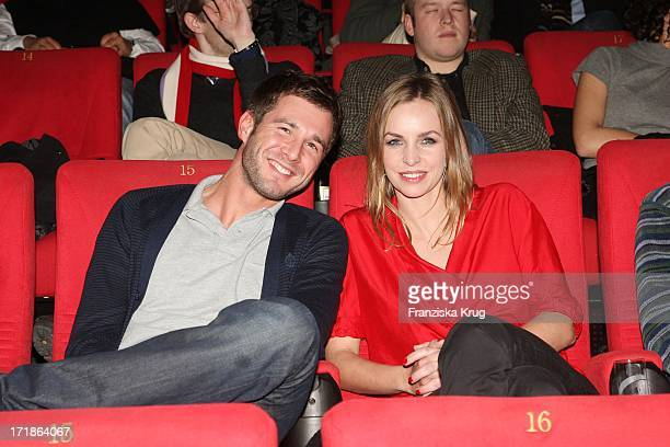 Simone Hanselmann And Jochen Schrott at the Premiere of 'Seven Pounds' in Cinestar at Potsdamer Platz in Berlin on 060109