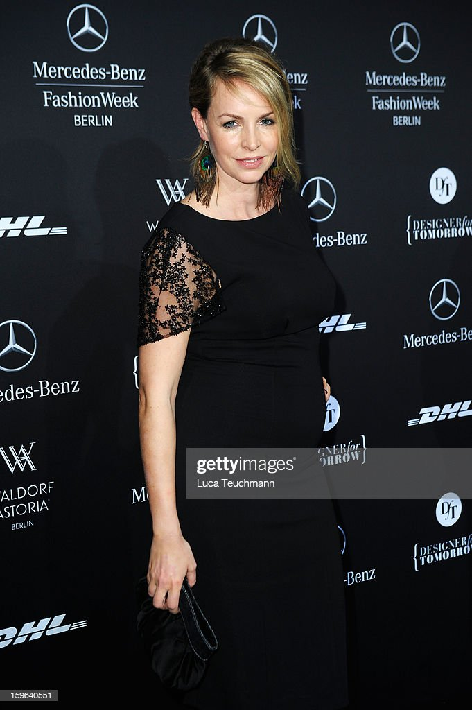 Simone Hanselmann attends Guido Maria Kretschmer Autumn/Winter 2013/14 fashion show during Mercedes-Benz Fashion Week Berlin at Brandenburg Gate on January 17, 2013 in Berlin, Germany.