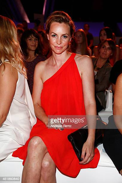 Simone Hanselmann attends the C'est Tout / Ce' Nou show during the MercedesBenz Fashion Week Spring/Summer 2015 at Erika Hess Eisstadion on July 8...